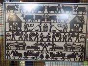 Sale 8569 - Lot 2070 - Artist Unknown Village Scene, swiss paper cut, 59 x 83cm (frame size), unsigned