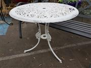 Sale 8740 - Lot 1202 - Alloy Metal Outdoor Table
