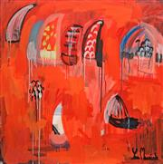 Sale 8853A - Lot 5001 - Yosi Messiah (1964 - ) - Red Harbour 85 x 85cm