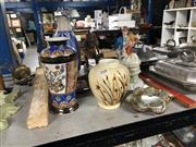 Sale 8797 - Lot 2448 - Collection of Sundries incl Oriental Vase, Tribal Figure, European Style Couple Figure & Gum Nut Studio Pottery