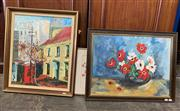Sale 9069 - Lot 2041 - Sydney Street Scene together with Still Life and decorative print