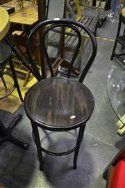 Sale 8134 - Lot 1045 - Set of Four Thonet Two-Tone Bentwood Bar Stools