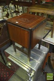 Sale 8331 - Lot 1541 - Unusual Inlaid Foldout Table