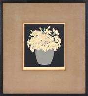 Sale 8382 - Lot 600 - John Hall (Hal) Thorpe (1874 - 1947) - Untitled (Flowers) 16.5 x 15.5cm