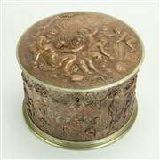 Sale 8393B - Lot 20 - Copper Ornate Lidded Cherubic Container