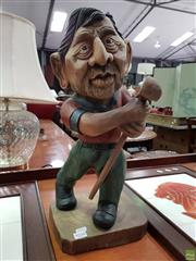 Sale 8580 - Lot 1038 - Timber Statue