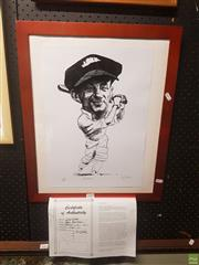 Sale 8595 - Lot 2081 - Limited Edition Bradman Caricature