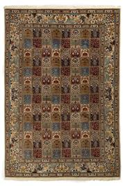 Sale 8780C - Lot 235 - A Persian Mood From Khorasan Region Very Fine 100% Wool And Silk Inlaid Pile, 300 x 205cm