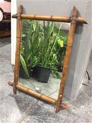 Sale 8967 - Lot 1051 - French Bamboo Framed Mirror (70 x 54cm)