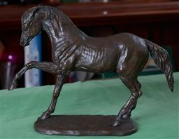 Sale 9103H - Lot 67 - Mary Pinsent limited edition figure of a stepping horse, no 36/500, Length 40cm