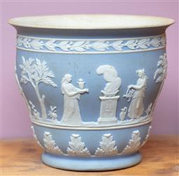 Sale 9120H - Lot 113 - An early Wedgwood  blue jasperware bowl featuring goddesses and cherubs, Height 9cm Diameter 10.5cm