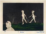 Sale 8976A - Lot 5008 - George Baldessin (1939 - 1978) - Walkers 21 x 30 cm (frame: 63 x 70 x 4 cm)