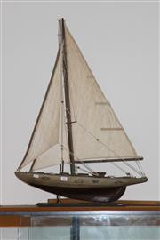 Sale 8160 - Lot 79 - Vintage Model Yacht