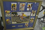 Sale 8214 - Lot 2117 - Lance Armstrong, Framed Collage w Signature