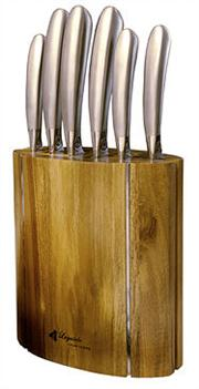 Sale 8372A - Lot 29 - Laguiole by Louis Thiers Mondial 7-Piece Knife Block Set RRP $800