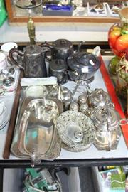 Sale 8478 - Lot 2264 - Collection of Plated Wares incl Tea Sets, Condiments, Butter Dishes etc