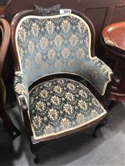 Sale 8697 - Lot 1667 - Tapestry Covered Mahogany Armchair
