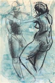 Sale 9030 - Lot 507 - Wendy Sharpe (1960 - ) - Dancing Figures (Abstract) 73 x 48 cm (frame: 93 x 66 x 3 cm)