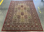 Sale 9043 - Lot 1079 - Egyptian made Red Polychrome Rug with Borders (230 x 170cm)