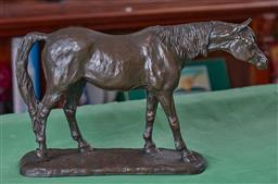 Sale 9103H - Lot 68 - Mary Pinsent limited edition Spelter figure of a relaxed horse, no 32/500, Length 42cm