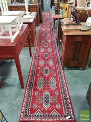 Sale 8554 - Lot 1075 - Red Tone Hall Runner