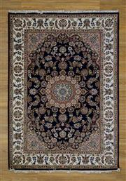 Sale 8559C - Lot 100 - Indo Persian Silk Inlaid 171cm x 243cm