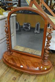 Sale 8566 - Lot 1657 - Timber Toilet Mirror with Barley Twist Supports