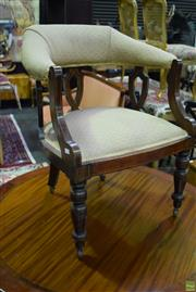Sale 8566 - Lot 1751 - Pair of Upholstered Tub Chairs