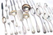Sale 8715 - Lot 66 - Assembled Set of Victorian Sterling Silver Cutlery For 12