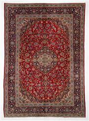 Sale 8740C - Lot 48 - A Persian Kashan From Isfahan Region 100% Wool Pile On Cotton Foundation, 392 x 276cm
