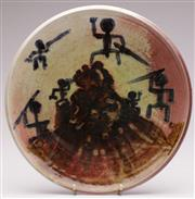 Sale 9073 - Lot 8 - A Signed Lindfield Pottery Charger (Dia 34.5cm) Bennie Marie C