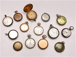 Sale 9128 - Lot 24 - Collection pocket watches (not working some losses) incl NSW Government Railways