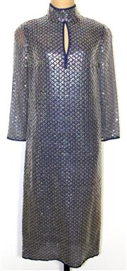 Sale 8134B - Lot 384 - A 1970S SEQUINED DRESS; Purchased from Chris Jacovides store, no tag (S).