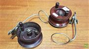 Sale 8395 - Lot 1005 - Pair of Vintage Alvey Fishing Reels with Line Guides