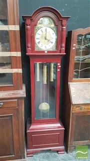 Sale 8404 - Lot 1010 - Reproduction Tempus Fugit Long Face Clock