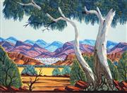 Sale 8647 - Lot 502 - Elton Wirri (1990 - ) - MacDonnell Ranges 36 x 48.5cm