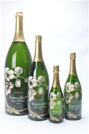 Sale 8670 - Lot 277 - Set of Four Large Graduated Shop Display Champagne Bottles (Max Height: 67cm)