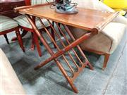 Sale 8680 - Lot 1090 - Timber Occasional Table on X Form Base