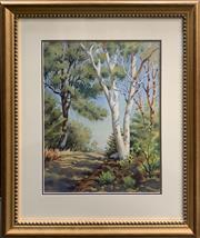 Sale 8686 - Lot 2027 - M Bakich - Afternoon Light watercolour, 63 x 54cm (frame), signed lower left -