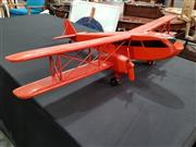Sale 8809B - Lot 651 - Painted Timber Model BiPlane (wingspan 100cm)
