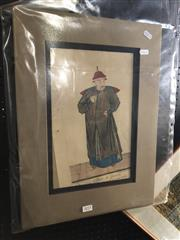 Sale 8811 - Lot 2011 - Pierre-Francois Giffart (2 works) Chinese Nobles hand-coloured engravings, 49 x 35.5cm each (mounted, unframed) -
