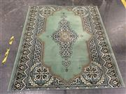Sale 9043 - Lot 1059 - Green, Black, Cream and Blue Tone Carpet with Central Medallion (L195 x W170cm)