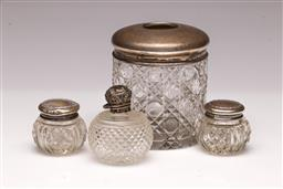 Sale 9107 - Lot 67 - A Collection of sterling silver topped dressing table wares (Some losses to brush)