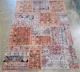 Sale 9188 - Lot 1506 - Persian vintage hand knotted pure wool patch work rug (200 x 150cm)