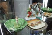 Sale 8100 - Lot 55 - Herend Figural Group with Other Ceramics incl Majolica
