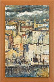 Sale 8266 - Lot 581 - George Feather Lawrence (1901 - 1981) - Untitled (City Overview) 61 x 38.5cm