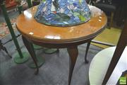 Sale 8299 - Lot 1069 - Maple Occasional Table with Glass Top
