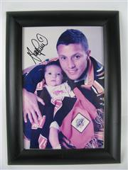 Sale 8450S - Lot 774 - Scott Prince Photograph, signed & framed; t/w All Blacks in Lonsdale Photograph, framed (2)