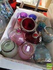 Sale 8464 - Lot 2298 - Set of 6 Glass and 2 Metal Cups