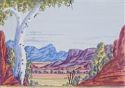 Sale 8647 - Lot 568 - Richard Forrester - Petermann Ranges 31.5 x 44cm